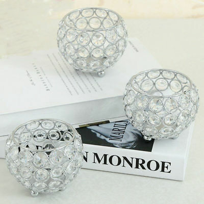 Dinner Table Votive Candle Holder Hollow Candlestick Crystal Wedding Party Event