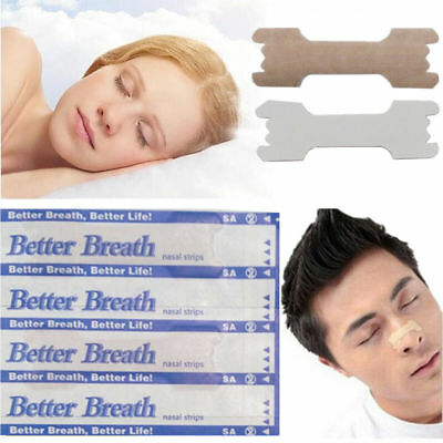10-1000 Pcs Better Breath Nasal Strips Anti Snoring Sleep Right Aids Stop Snore