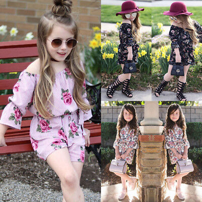 Toddler Baby Girl Floral Romper Bodysuit Jumpsuit Sunsuit Summer Clothes Outfits
