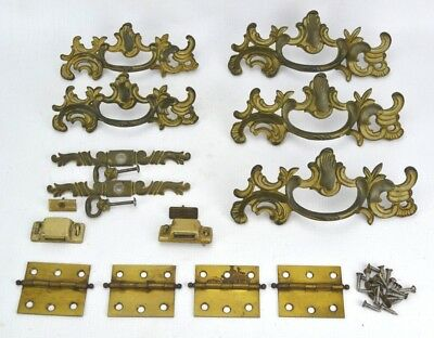 Tremendous Set Of Vintage Art Nouveau Style Brass Drawer Cabinet Pulls Furniture Hardware Home Interior And Landscaping Ymoonbapapsignezvosmurscom