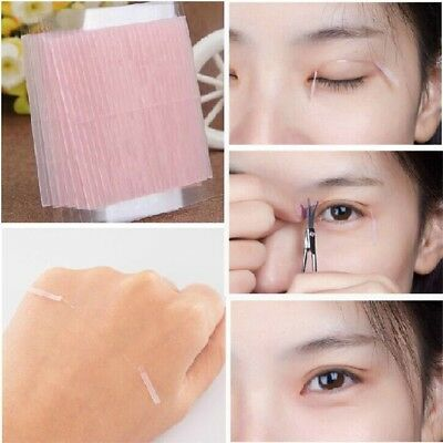 100PCS Invisible Fiber Double Sided Adhesive Eyelid Stickers Eye Tapes NE8