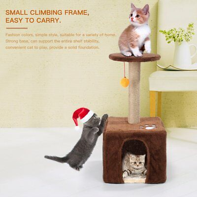 23in Cat Tree Bed Furniture Scratching Tower Post Condo Kitten Pet House OY