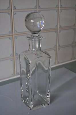 An Attractive Solid Vintage Glass Decanter