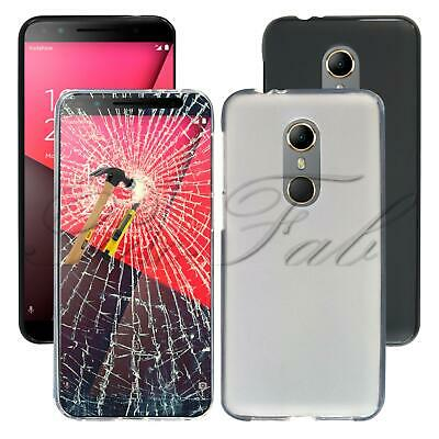 For Vodafone Smart N9 VFD 720 New Clear Gel Phone Case Cover + Tempered Glass