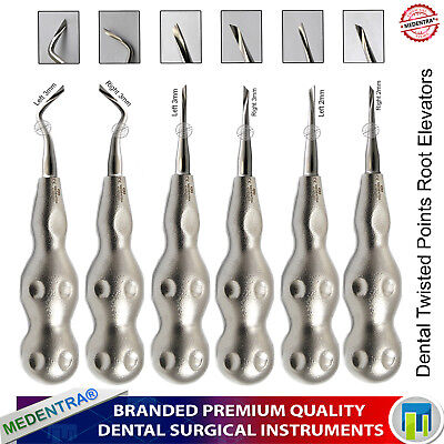 Twist Tooth Root Extraction Elevators Surgical Vets Dental Luxating Elevator 6pc