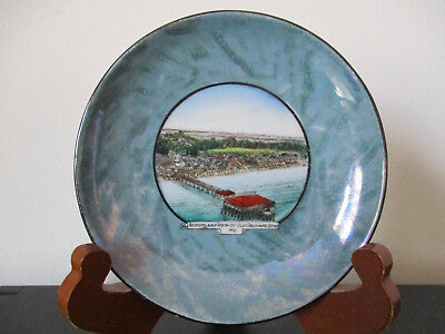 Circa 1910 Souvenir Porcelain Dish Aeroplane View Old Orchard Beach Maine