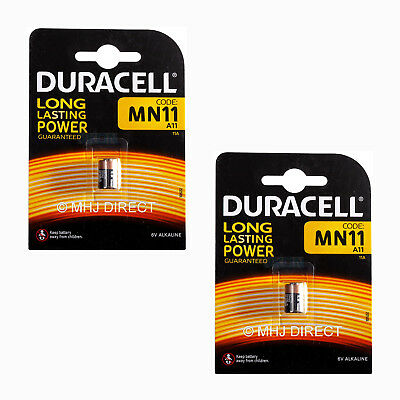 2 x Duracell 11A MN11 A11 CX21A L1016 E11A 6v Alkaline Batteries Use By 2022