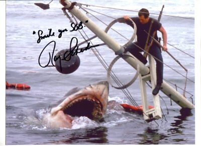 shark week JAWS  star ROY SCHEIDER autograph HAND SIGNED 2558