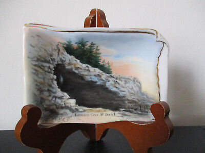 Abram French Boston Souvenir Tray Anemone Cave Acadia National Park Maine #BPA