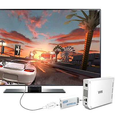Wii auf HDMI Adapter Konverter Full HD TV Audio Stick 3.5MM 720p 1080p OUTPUT