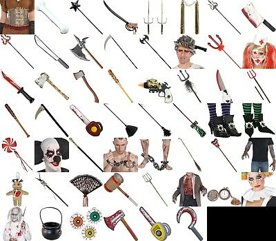 Halloween Weapon Prop  Accessory Horror Special FX Fancy Dress Party Lot