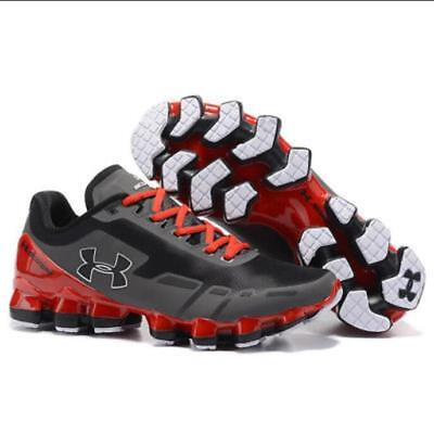 New 2018 Men's Under Armour Mens UA Scorpio Running Shoe Red+Gray Leisure Shoes