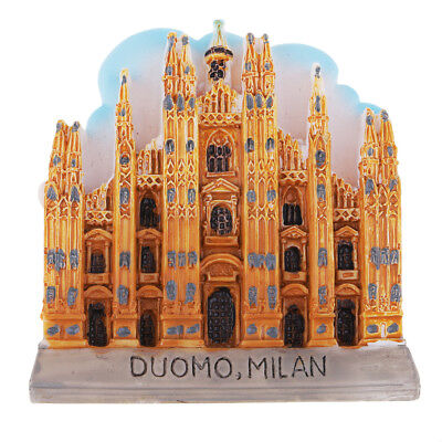Resin Fridge Magnet Refrigerator Stickers Home Decor Milan Cathedral Model
