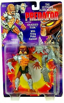 MOC Kenner Cracked Tusk Predator With Firing Pulse Cannon Action Figure
