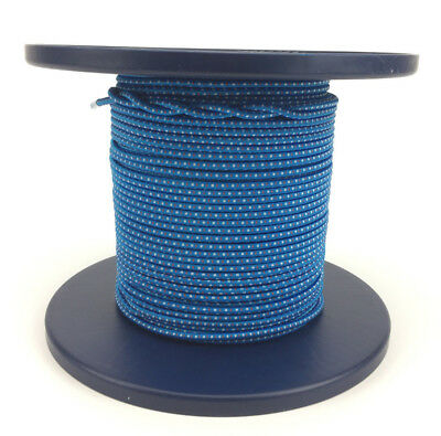 5mm x 68 Metres, Bungee Rope Blue With White and Red Fleck, Shock Cord Tie Down
