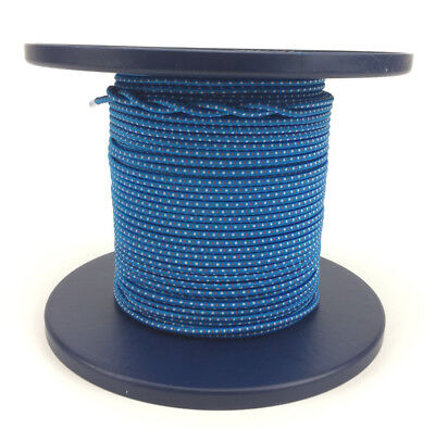 5mm x 72 Metres, Bungee Rope Blue With White and Red Fleck, Shock Cord Tie Down