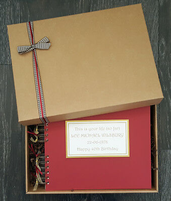 "This is your life so far,10""x8"" boxed scrapbook, photo memory book, personalised"