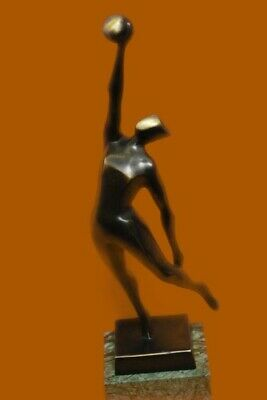 Signed Original Abstract Modern Art Basketball Player Bronze Sculpture Statue