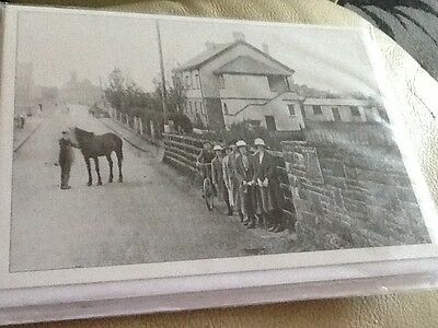 West Street from Railway Bridge, Oldland Common, UK c1914 - Blank Card