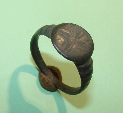 Ancient bronze  ring  Middle Ages. Оriginal.