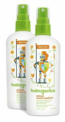 Babyganics Natural DEET-Free Insect Repellent 6oz Spray Bottle Pack of 2