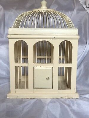 Vintage Antique Wood Birdcage Chinese Aviary Pet Bird House Cage