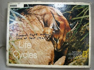vintage National Geographic Educational Filmstrip set Life Cycles of animals