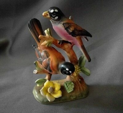 "Vintage ARTMARK Ceramic 4.5"" Tall Robin Bird Figurine, Japan"