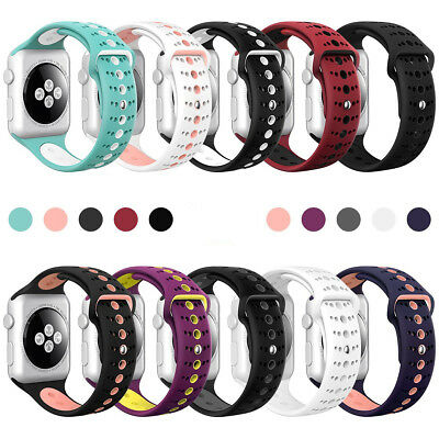 Replacement Soft Silicone Sport Band Strap Bands for Apple Watch iWatch 42 38mm
