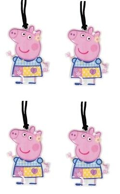 Four Pack of Peppa Pig LED Flashlights with Lanyard