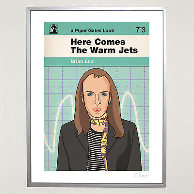 Brian Eno Here Comes The Warm Jets Ltd Ed 30cm x 40cm Poster Roxy Music Glam