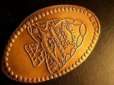Philmont Scout Ranch - ALL COPPER Smashed Penny With Arrowhead Logo