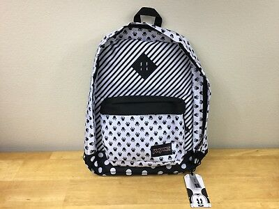 8d61c9a8b92 DISNEY MINNIE MOUSE Super FX White Bow Dot Backpack Jansport 1