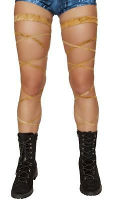 Suede Leg Wraps Garter Straps Thigh High Rave Costume Festival Dance 3636