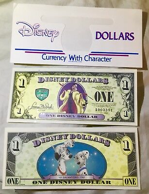 "2013 $1 One Disney Dollar 101 Dalmatians Villains Cruella ""Error"" Low #A003381"