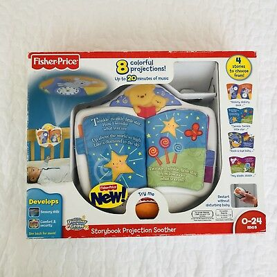 RARE Fisher-Price Discover 'n Grow Storybook Projection SOOTHER Baby Crib Toy