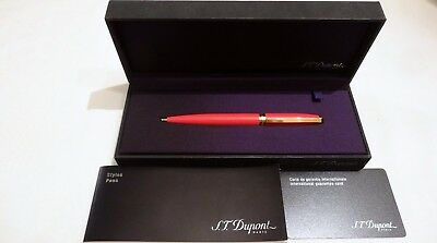 S T Dupont Fidelio Coral Red Chinese Lacquer Mechanical Pencil - New In Box