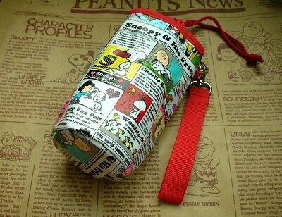 Peanuts Snoopy Heat Insulated Bottle Carry Pouch / Bag - News FREE SHIPPING