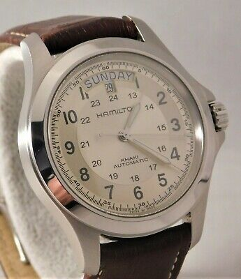 Hamilton Khaki Field King Day/Date Swiss Automatic Mens Wristwatch....40mm
