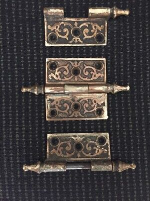 Eastlake Victorian Brass Antique Hinge 2 X 2 Collectible Hardware 1 Full Parts