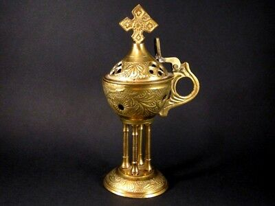 VINTAGE BRASS ORTHODOX CENSER(Incense Burner) from GREECE!!!