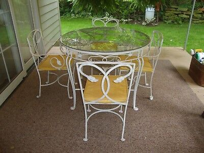 WOW!! Vintage Heinz Estate Wrought Iron Patio Set with Heinz Company Provenance