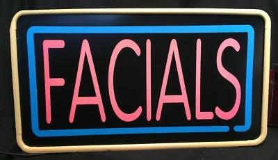 Spa Beauty parlor FACIALS Lighted Sign For Window or Shop