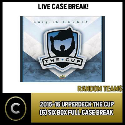 2015-16 Upper Deck The Cup (6) Box Full Case Break #1020 - Random Teams