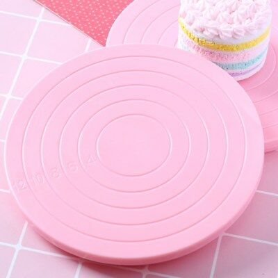 14cm Cake Rotating Revolving Plate Decorating Turntable Display Stand Plastic