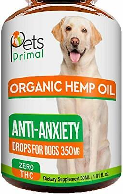 Organic Hemp Oil For Dogs & Cats 500mg Anxiety Pain Relief 1oz USA