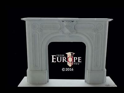 Hand Carved Marble Victorian Style Estate Fireplace Mantel - Ra158