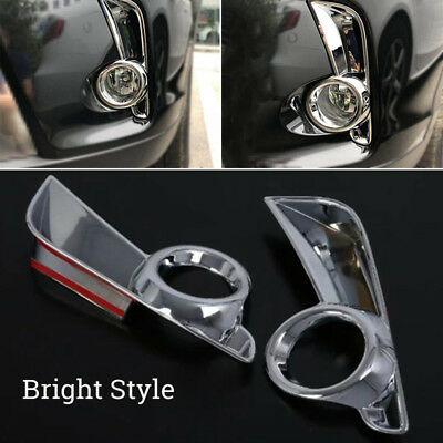 For Toyota 2018 New Highlander Chrome Front Fog Light Lamp Frame Cover Trims
