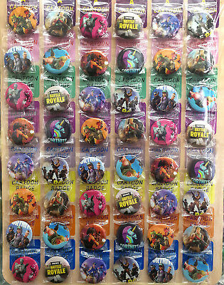 Fortnite FPS GAME 30MM 48pc LOT PIN BACK BADGES BUTTONS FOR BAG CLOTH PARTY