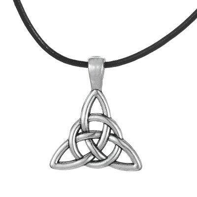 Ancient Talisman Irish Celtic Trinity Knot Triquetra Roundness Pendant Necklace